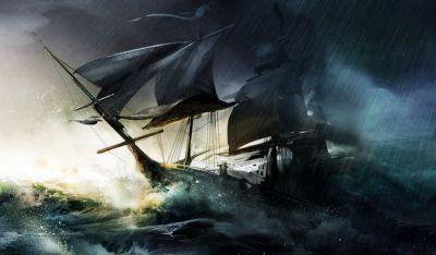 Я никогда ещё не бывал в море, и мне стало худо. Голова у меня закружилась, ноги задрожали, меня затошнило, я чуть не упал. Всякий раз, когда на корабль налетала большая волна, мне казалось, что мы сию минуту утонем. Всякий раз, когда корабль падал с высокого гребня волны, я был уверен, что ему уже никогда не подняться.