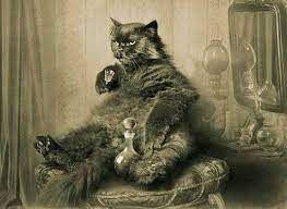 – Это водка? – слабо спросила Маргарита. Кот подпрыгнул на стуле от обиды. – Помилуйте, королева, – прохрипел он, – разве я позволил бы себе налить даме водки? Это чистый спирт!