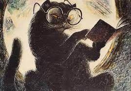 — Вы не Достоевский, — сказала гражданка, сбиваемая с толку Коровьевым. — Ну, почем знать, почем знать, — ответил тот. — Достоевский умер, — сказала гражданка, но как-то не очень уверенно. — Протестую, — горячо воскликнул Бегемот. — Достоевский бессмертен!