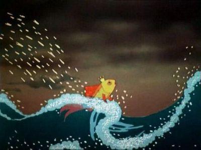 «Чего тебе надобно, старче?» ...Ничего не сказала я деду, Лишь хвостом по воде плеснула И ушла в глубокое море.